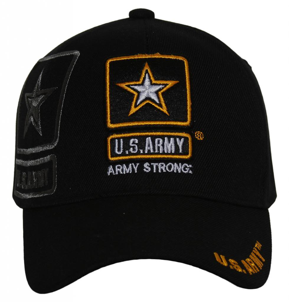 09034b0c139 Details about United States Army Star Logo Shadow Black Adjustable Cap