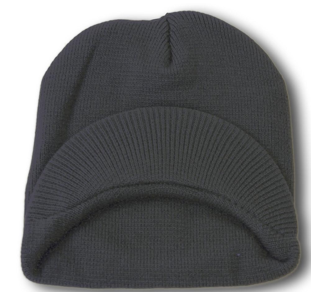 TopHeadwear-Cuffless-Beanie-Cap-with-Visor thumbnail 12