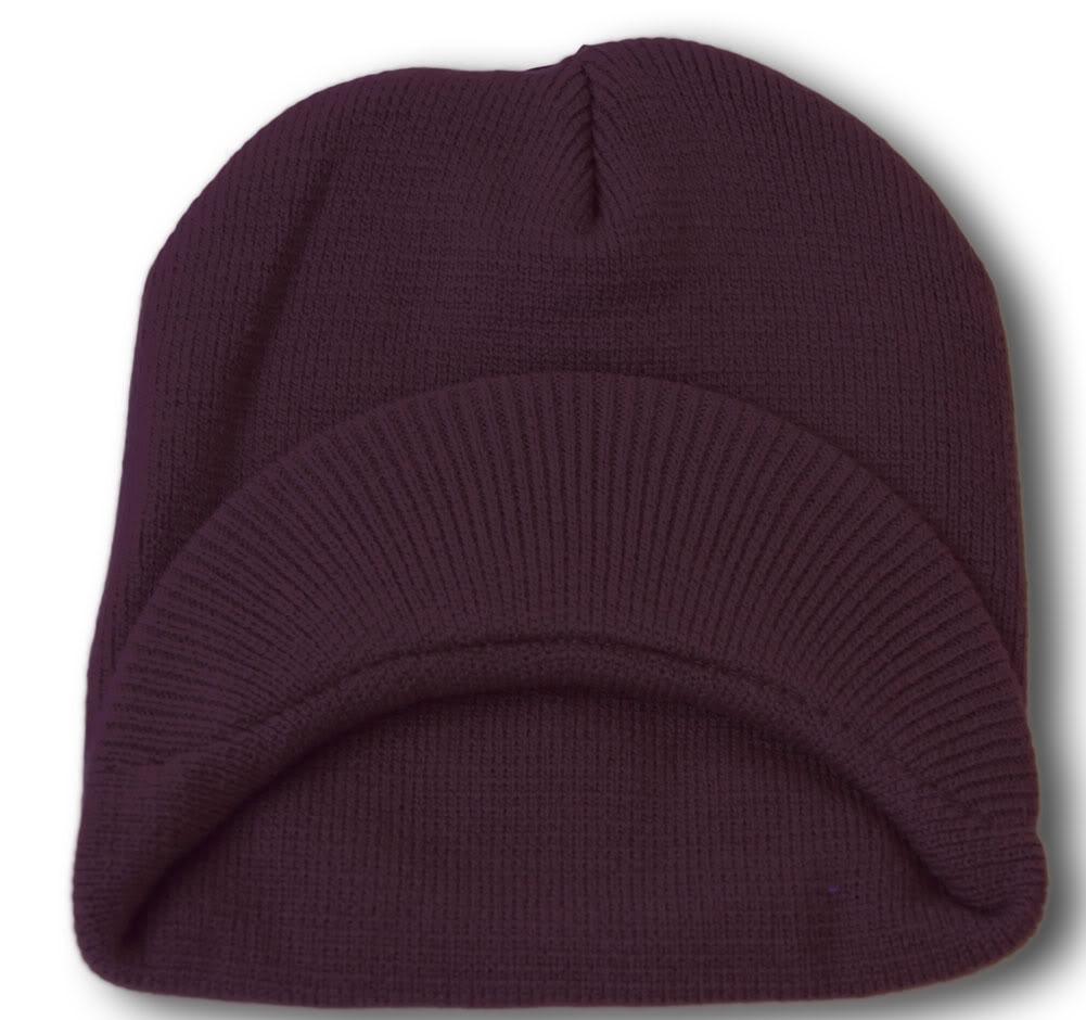 TopHeadwear-Cuffless-Beanie-Cap-with-Visor thumbnail 34