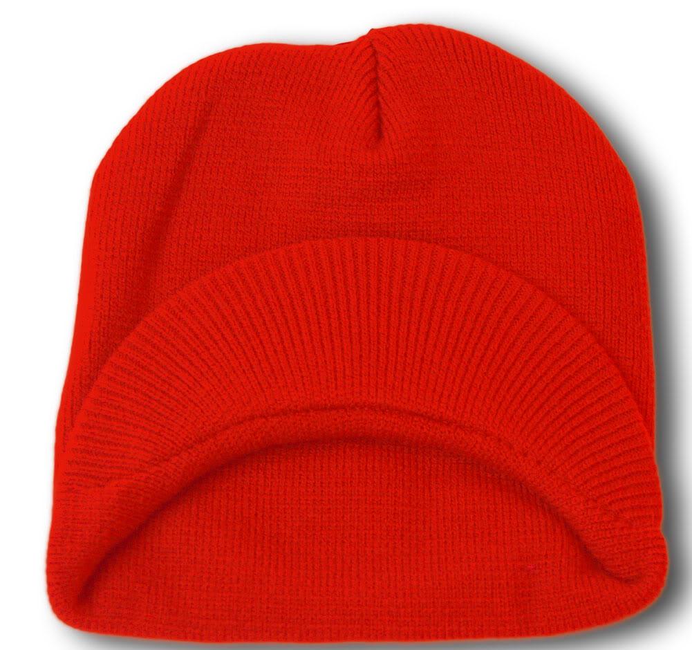 TopHeadwear-Cuffless-Beanie-Cap-with-Visor thumbnail 37
