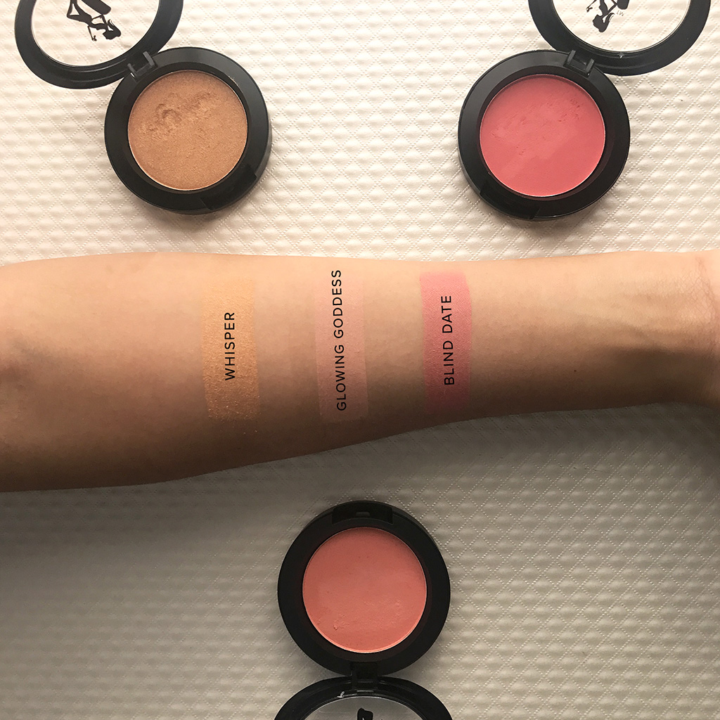 be a bombshell blush swatches