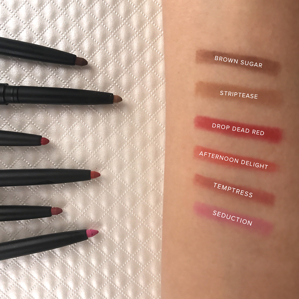 be a bombshell mechanical lip liner swatches