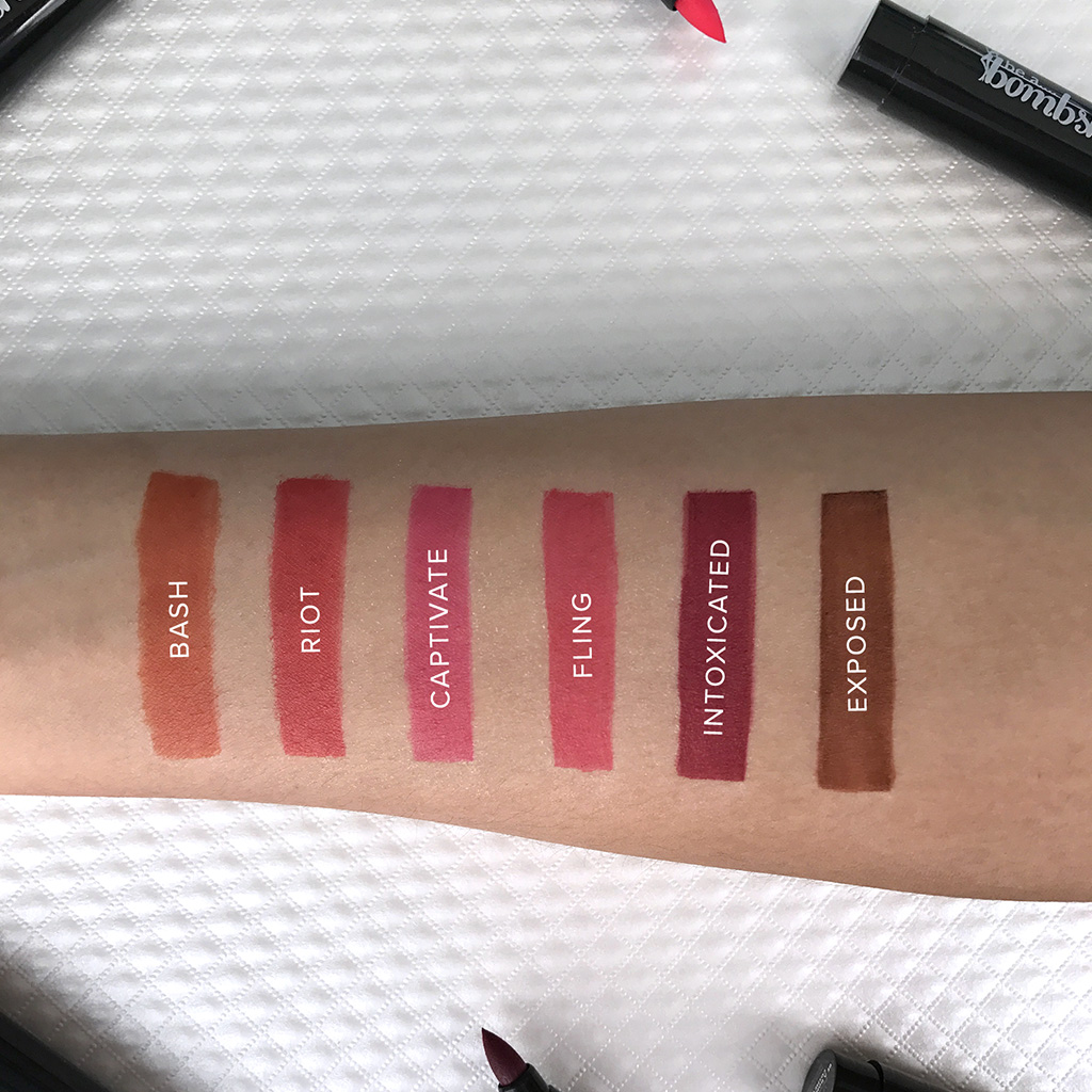 be a bombshell lip stain swatches