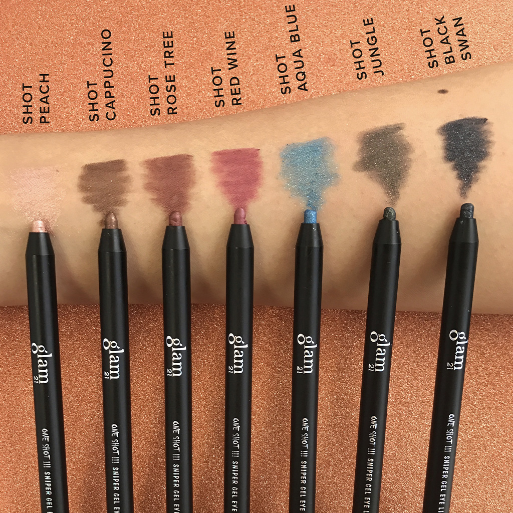 glam21 One Shot Sniper Gel Eye Liner swatches