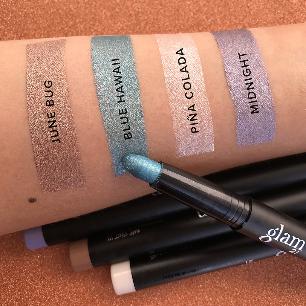 glam21 One Shot Cocktails Eye Crayon Swatches