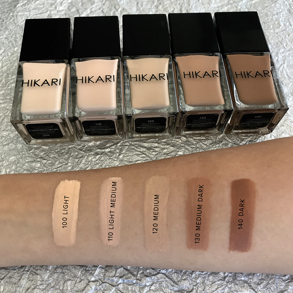 hikari foundation swatches