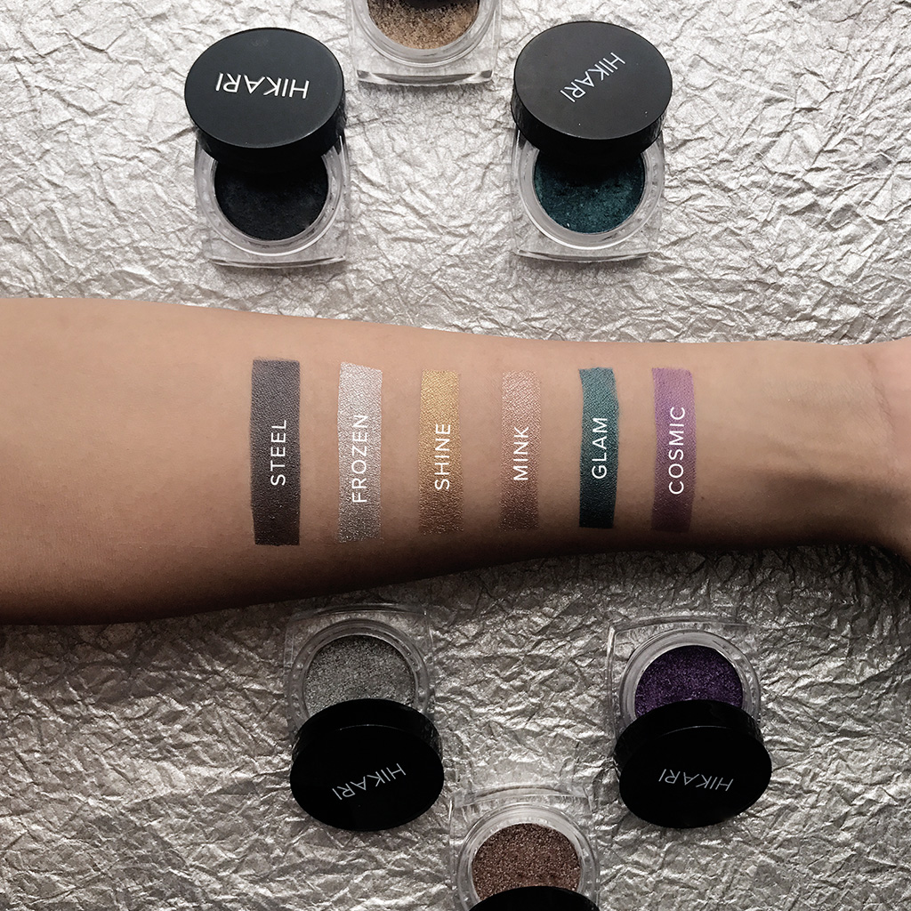 hikari cream pigment eye shadow swatches