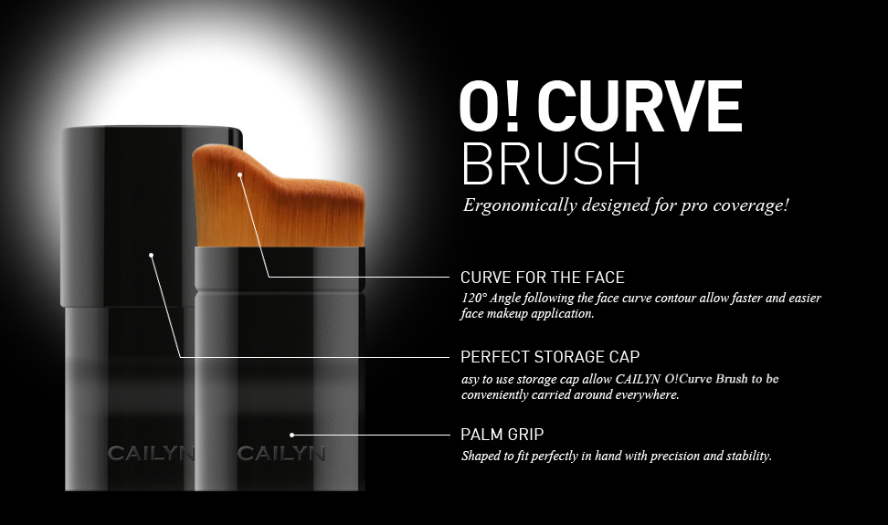 Cailyn O! Curve Brush Detail