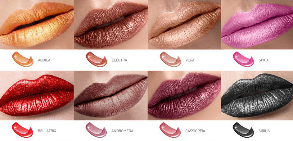 cailyn star wave mattalic tint lip shades