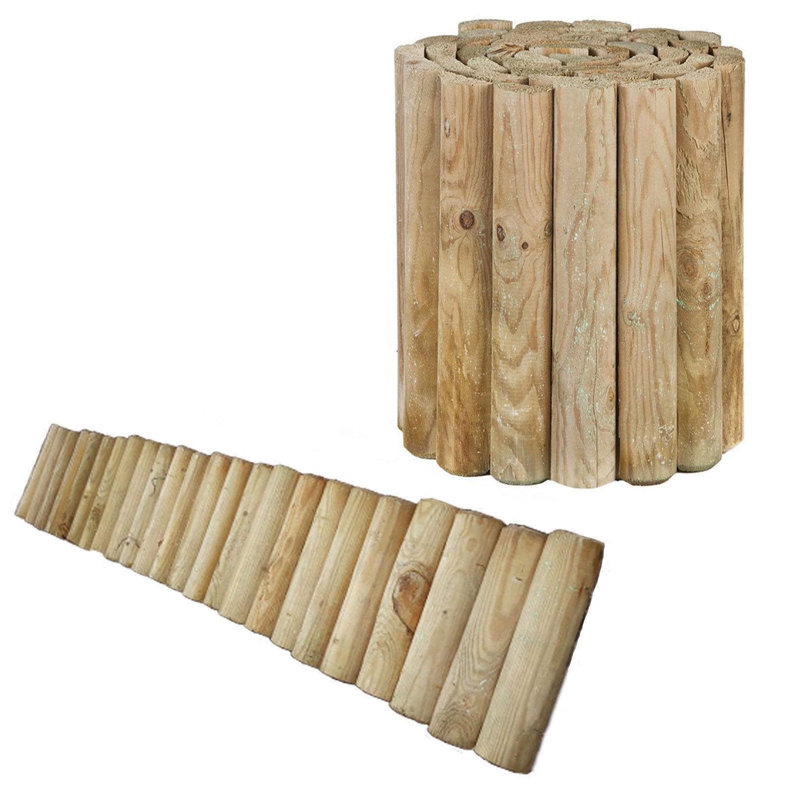 Beetzaun Rollzaun zur Beetumrandung Rasenkante Beeteinfassung Holz