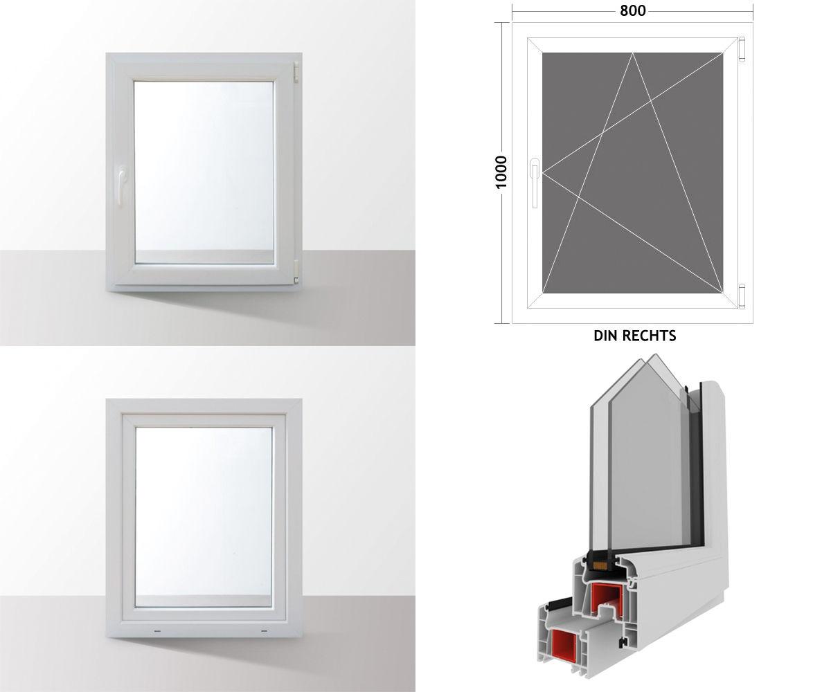 Fenster-Kunststofffenster-Kellerfenster-Dreh-Kipp-Fenster-2-fach-Verglast-weiss Indexbild 12