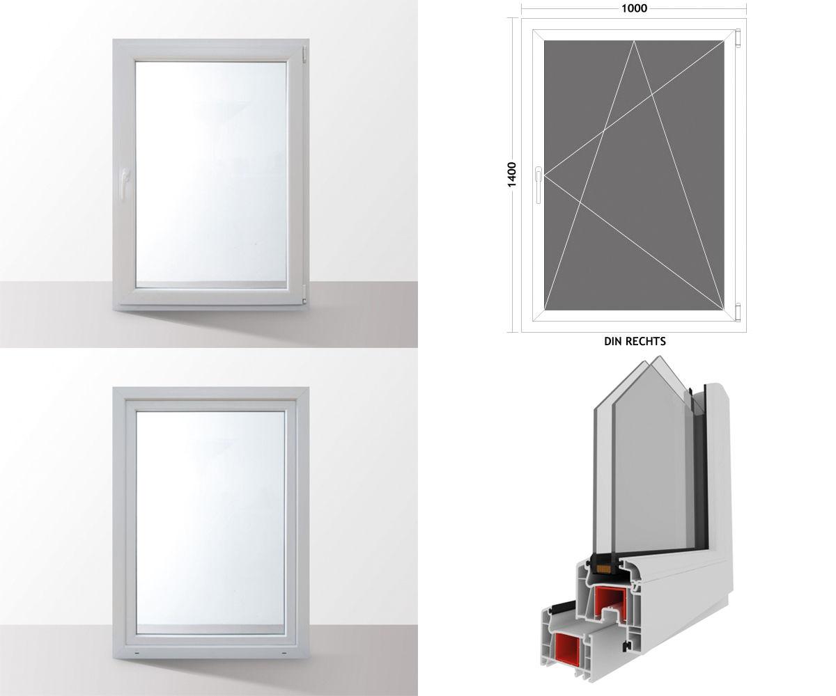Fenster-Kunststofffenster-Kellerfenster-Dreh-Kipp-Fenster-2-fach-Verglast-weiss Indexbild 24