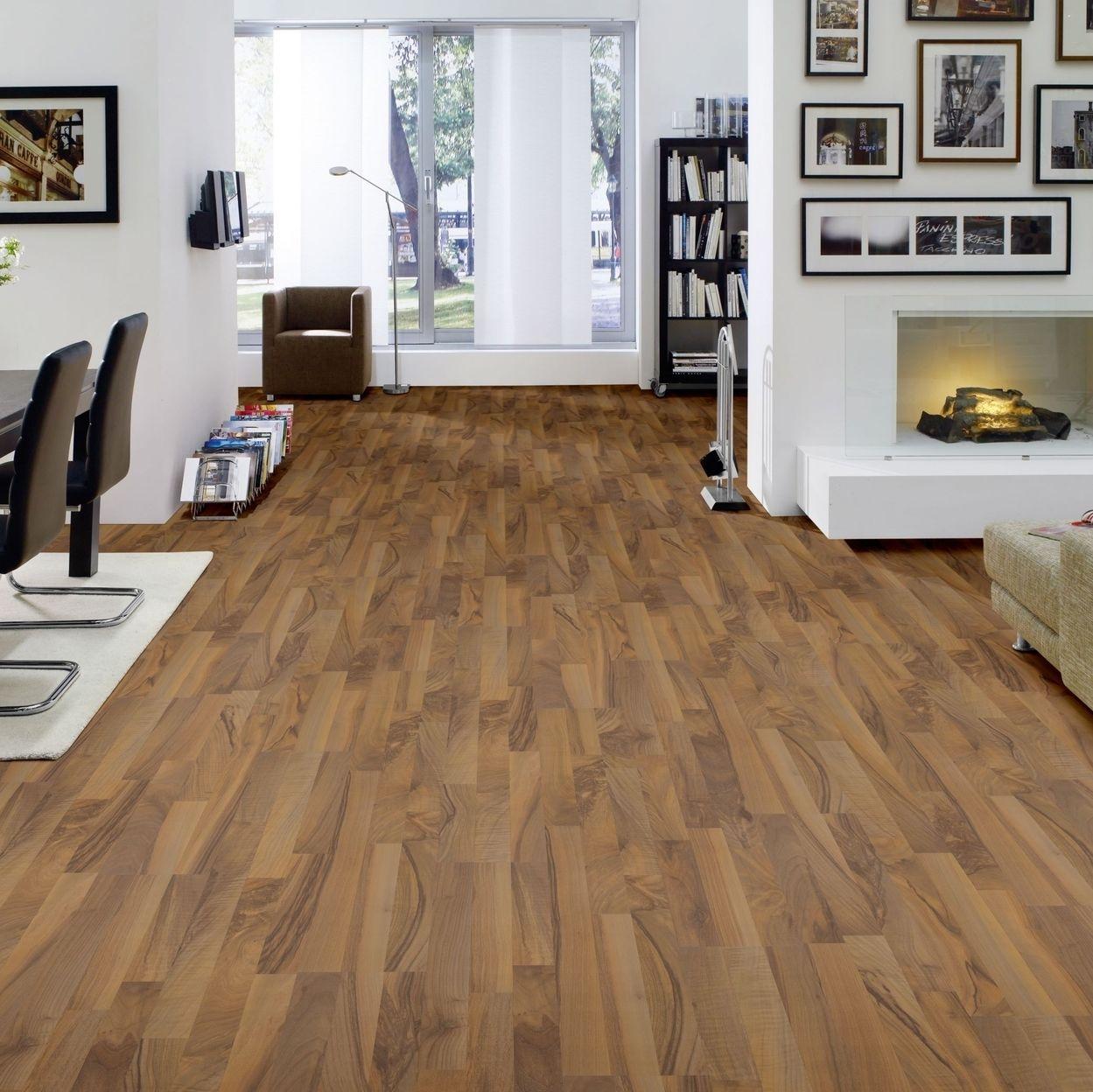 hori klick laminat selection nussbaum schiffsboden optional d mmung leisten ebay. Black Bedroom Furniture Sets. Home Design Ideas