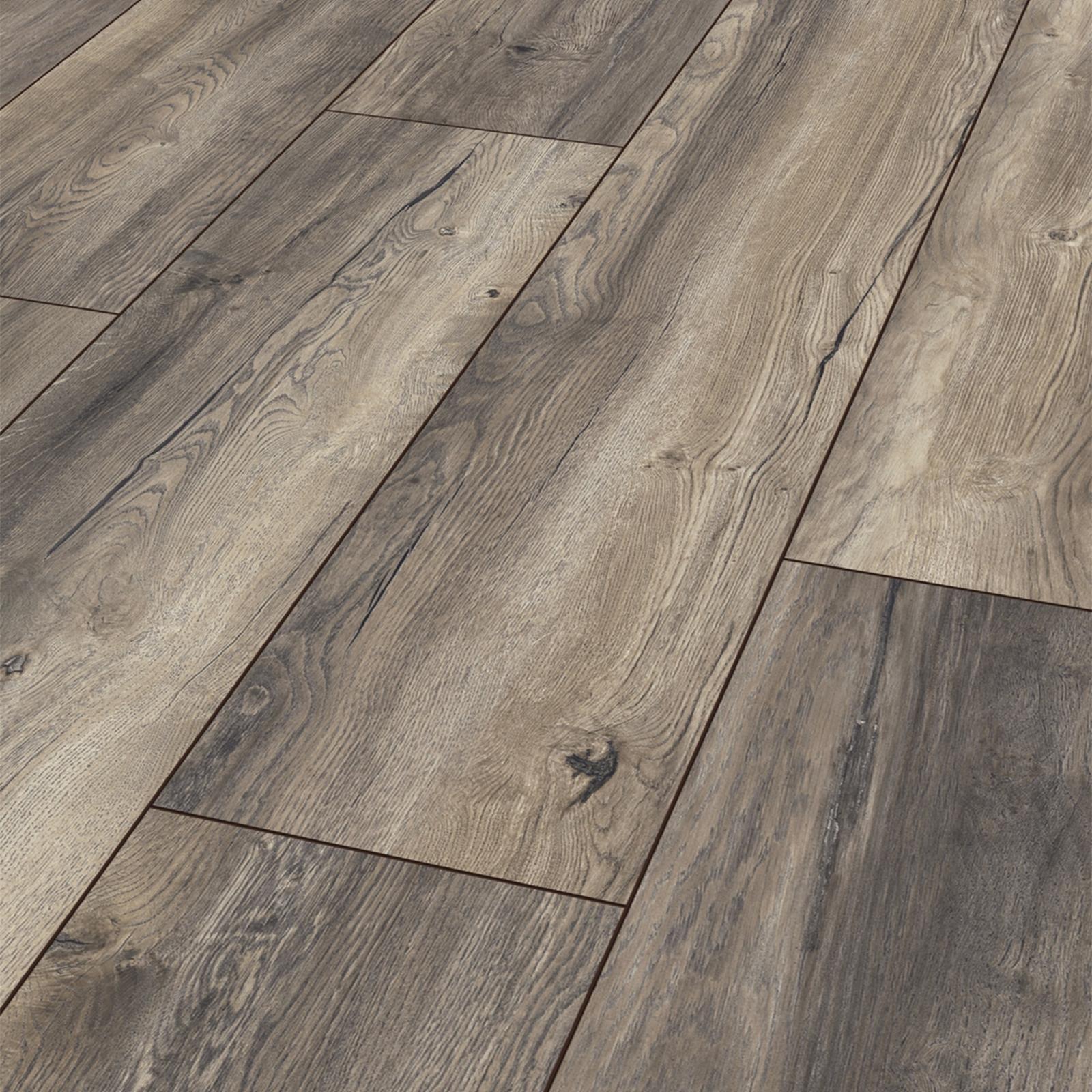 kronotex laminat boden exquisit plus harbour oak grau optional d mmung leisten ebay. Black Bedroom Furniture Sets. Home Design Ideas