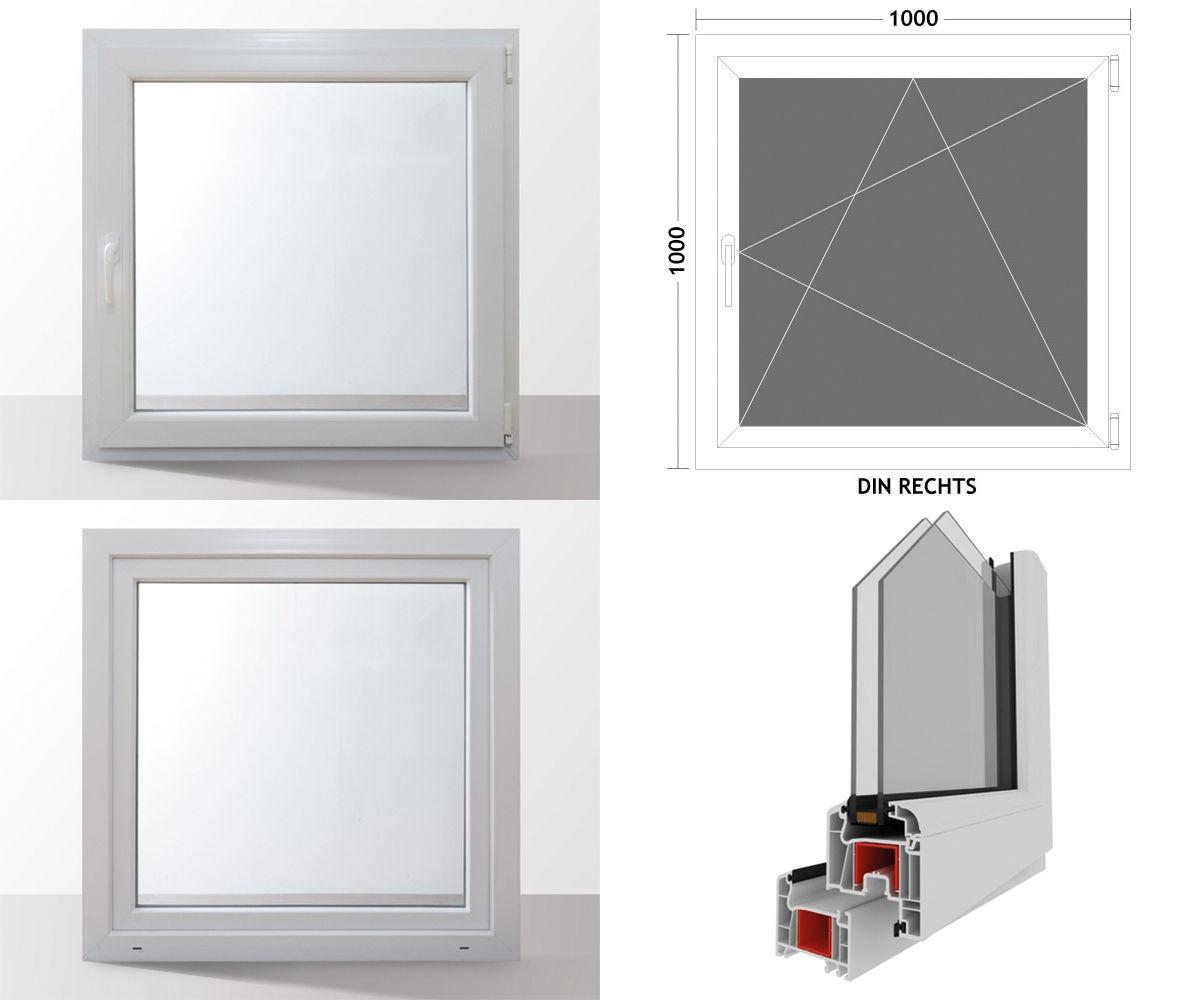Fenster-Kunststofffenster-Kellerfenster-Dreh-Kipp-Fenster-2-fach-Verglast-weiss Indexbild 6
