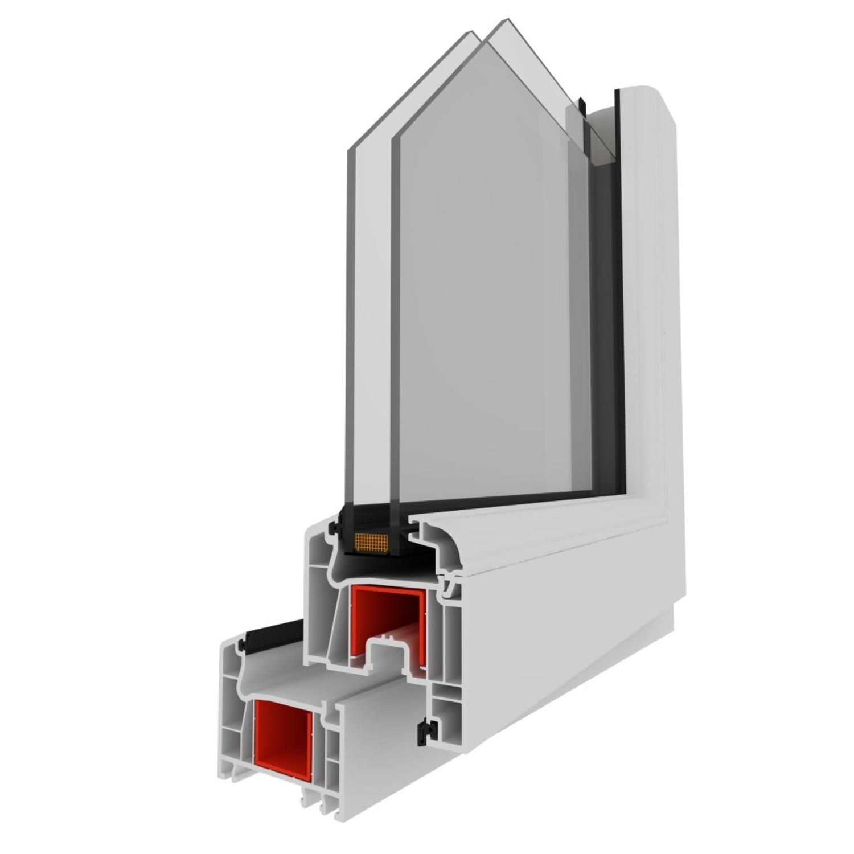 Fenster-Kunststofffenster-Kellerfenster-Dreh-Kipp-Fenster-2-fach-Verglast-weiss Indexbild 5