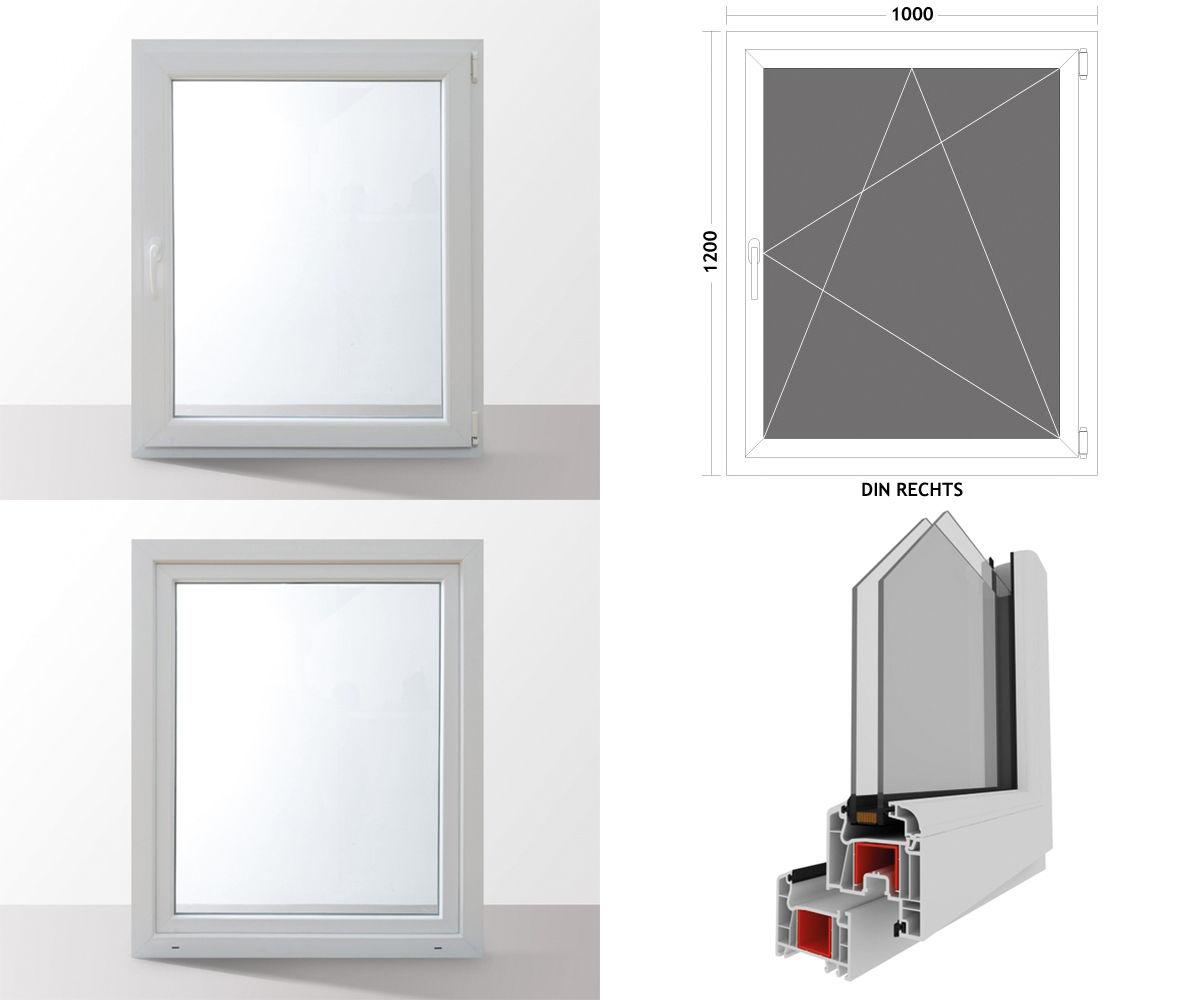 Fenster-Kunststofffenster-Kellerfenster-Dreh-Kipp-Fenster-2-fach-Verglast-weiss Indexbild 18