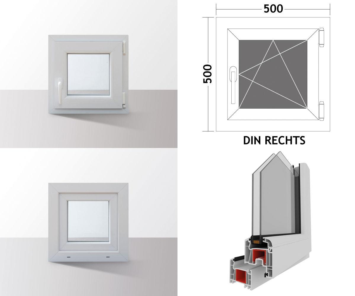Fenster-Kunststofffenster-Kellerfenster-Dreh-Kipp-Fenster-2-fach-Verglast-weiss Indexbild 31