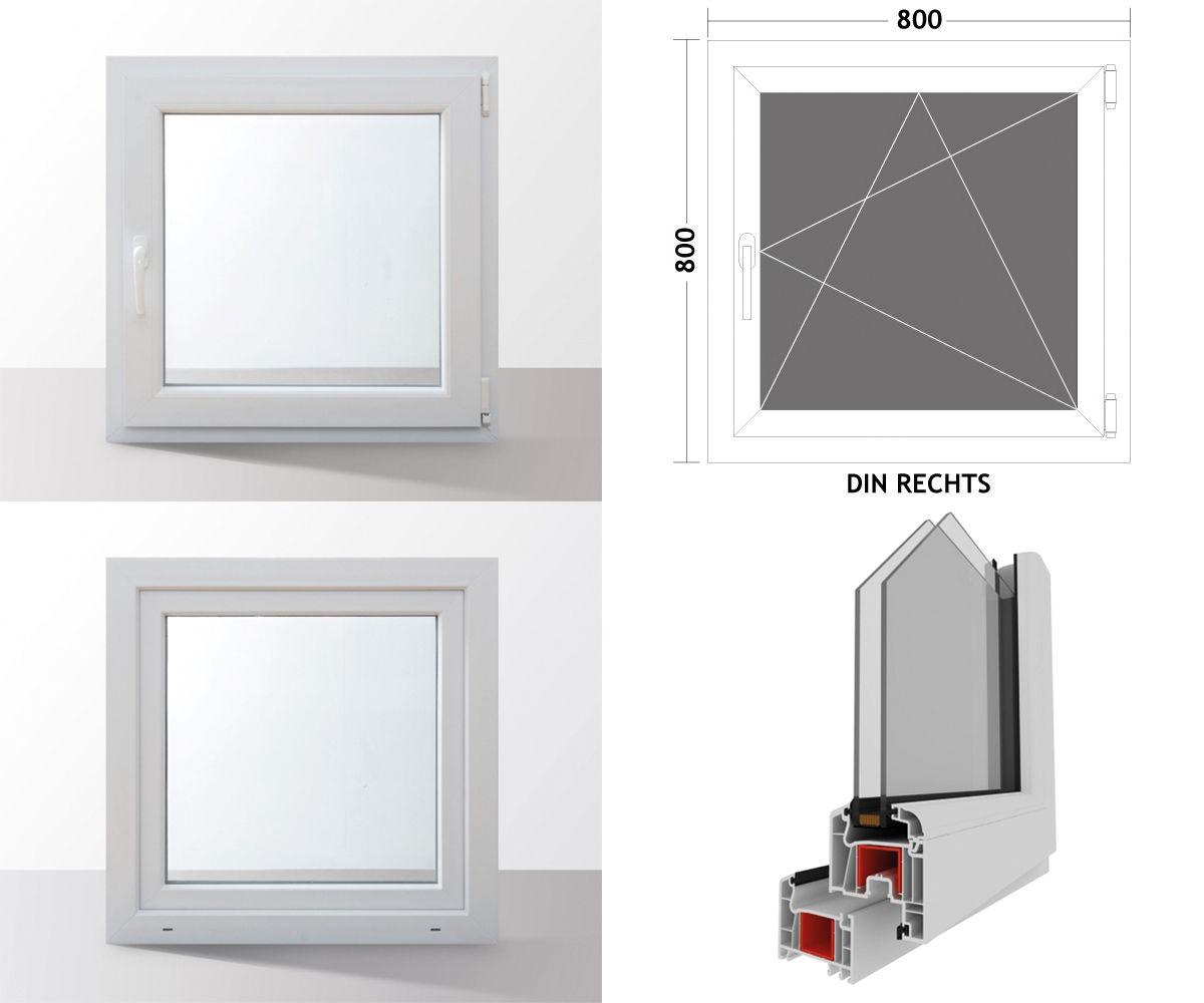 Fenster-Kunststofffenster-Kellerfenster-Dreh-Kipp-Fenster-2-fach-Verglast-weiss Indexbild 69