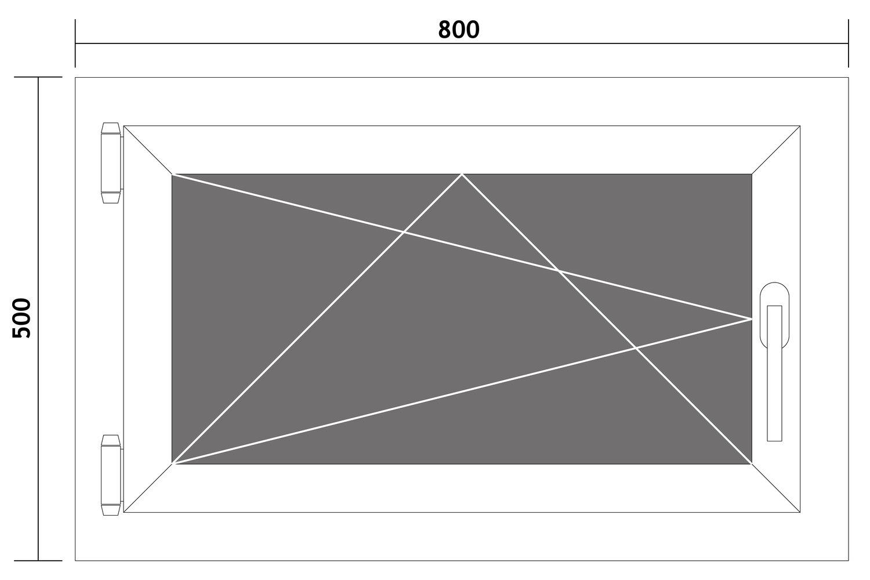 Fenster-Kunststofffenster-Kellerfenster-Dreh-Kipp-Fenster-2-fach-Verglast-weiss Indexbild 48