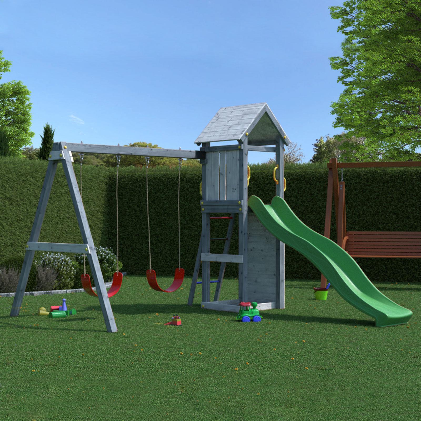 Hori Kinder Spielturm Kletterturm Spielhaus Kletterwand Rutsche