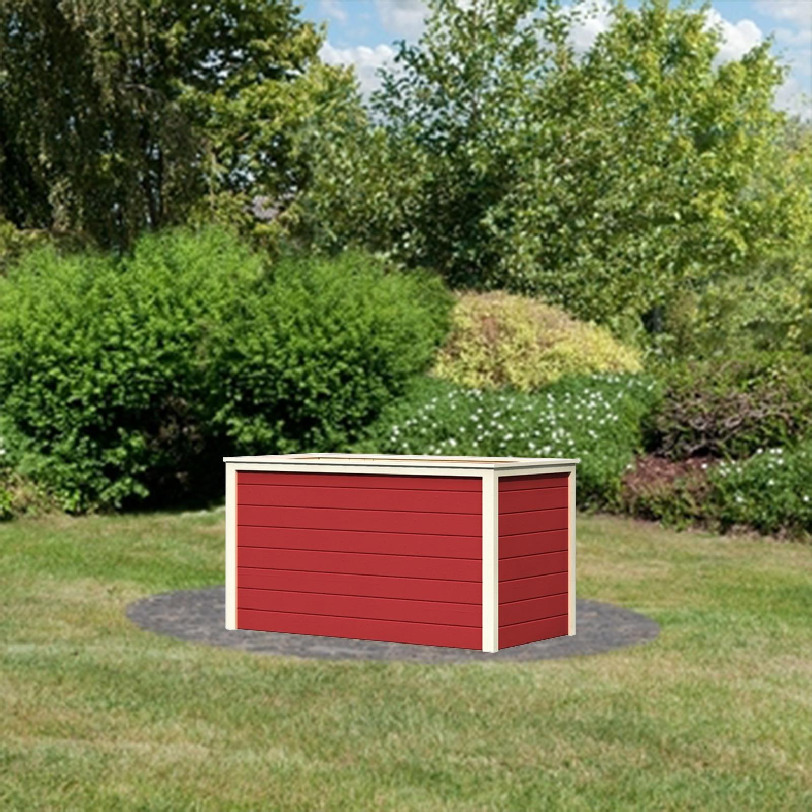 karibu hochbeet 18 mm holz pflanzenbeet gem sebeet. Black Bedroom Furniture Sets. Home Design Ideas