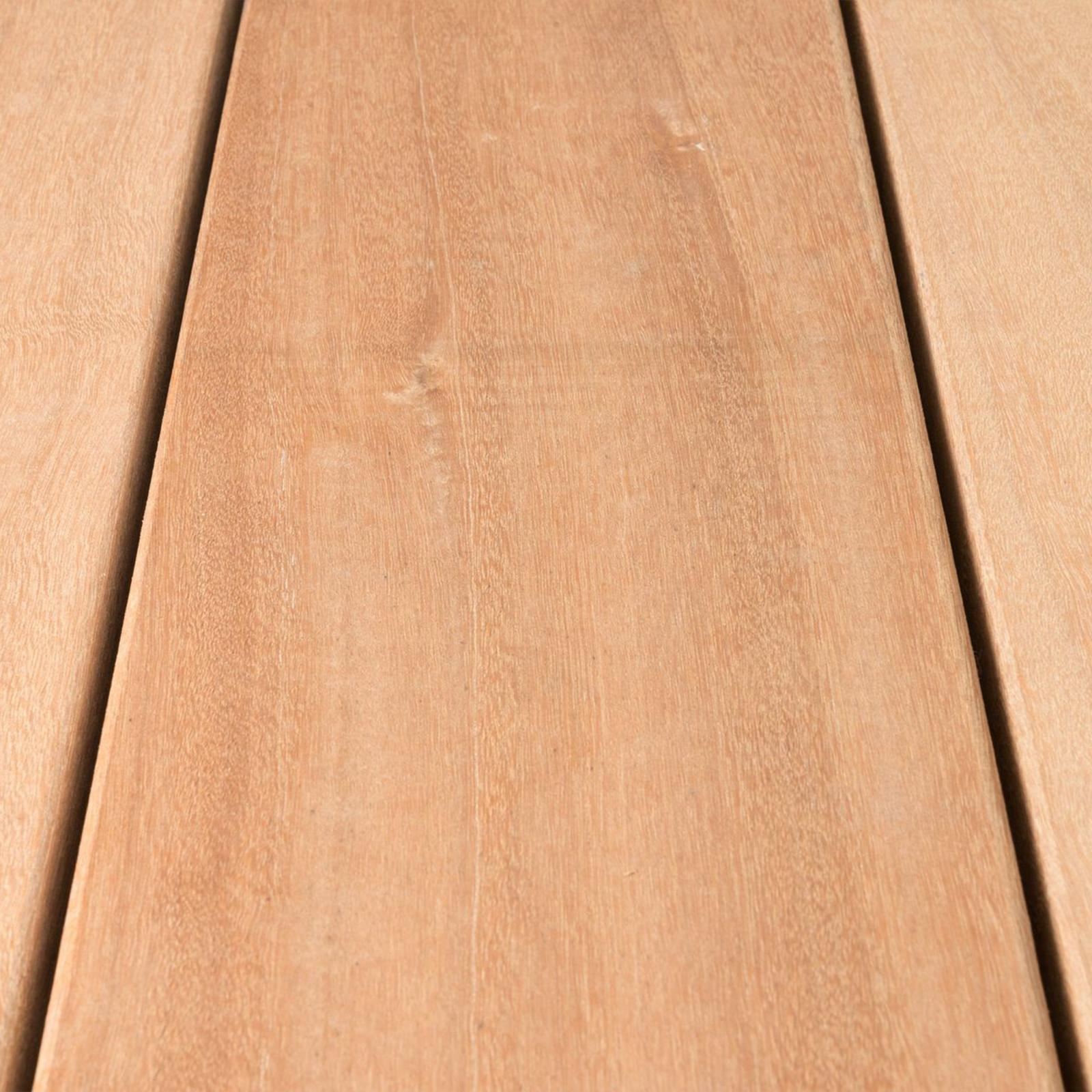 Bangkirai Terrassendiele Massiv Holz Glatt Komplettset