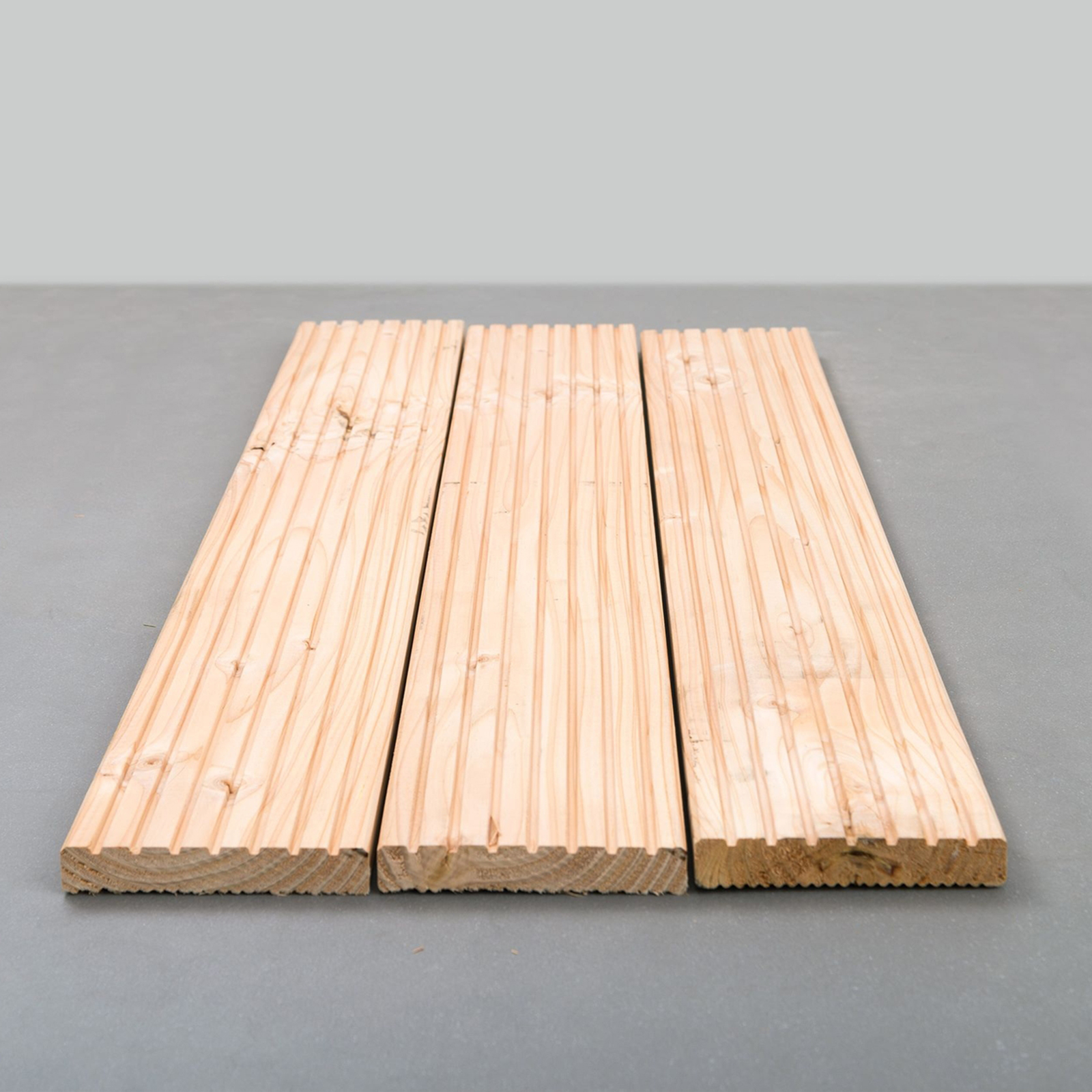 Terrassendiele Holz Lärche massiv Komplettset Komplettbausatz 5-100 m²