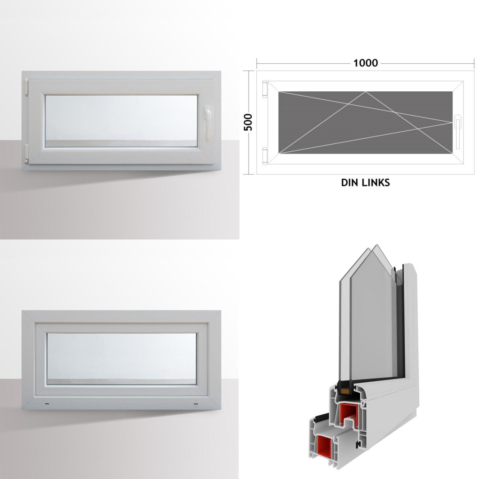 fenster kunststofffenster kellerfenster dreh kipp fenster 2-fach