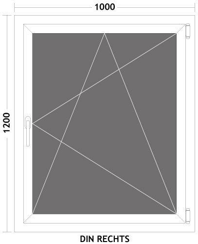 hori fenster kunststoff dreh kipp kellerfenster 2 fach verglasung 100 x 120 cm. Black Bedroom Furniture Sets. Home Design Ideas