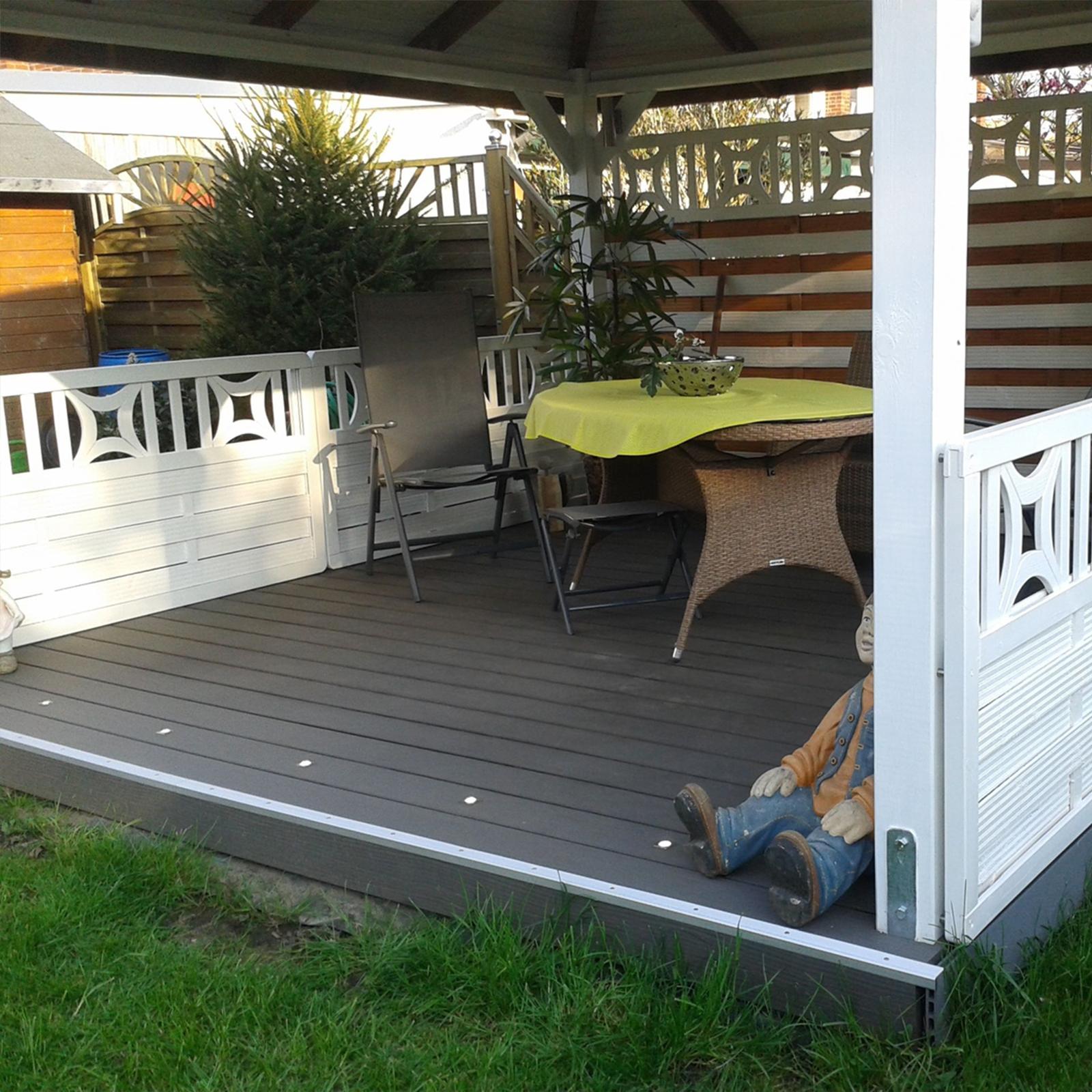 megawood terrassendielen komplettset wpc premium massiv. Black Bedroom Furniture Sets. Home Design Ideas