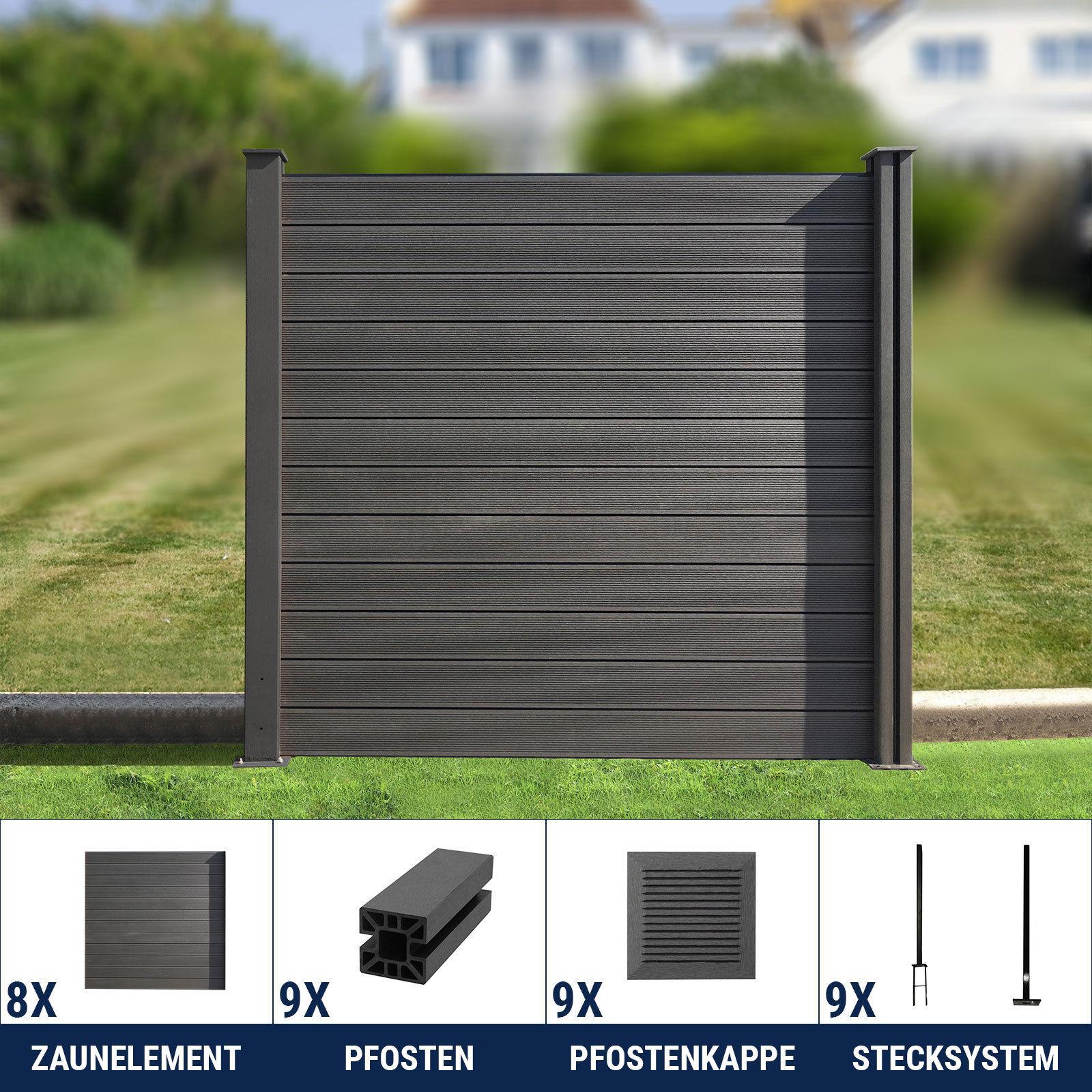 wpc zaun sichtschutzzaun lamellenzaun gartenzaun terrasse. Black Bedroom Furniture Sets. Home Design Ideas