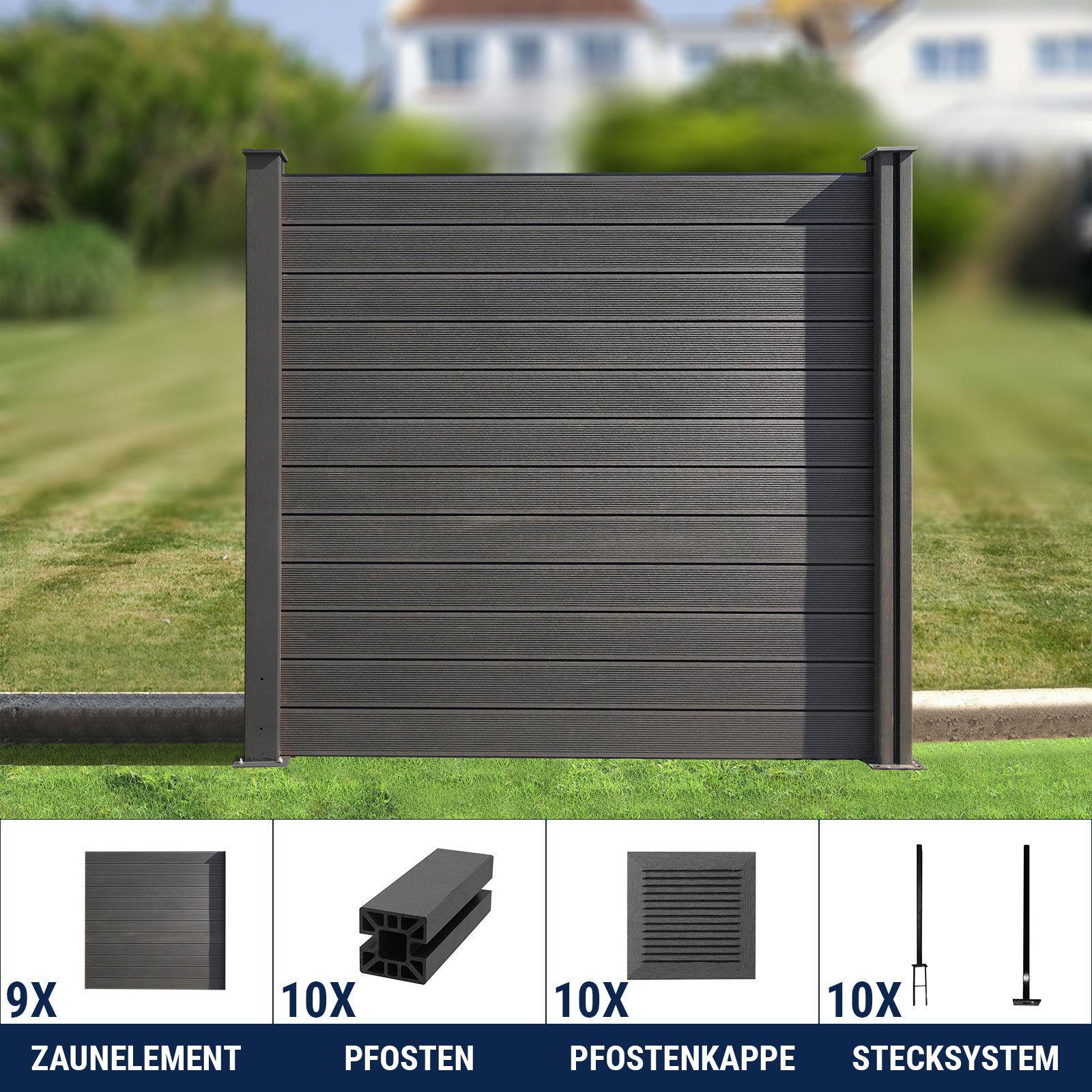 wpc zaun sichtschutz gartenzaun windschutz terrasse garten. Black Bedroom Furniture Sets. Home Design Ideas