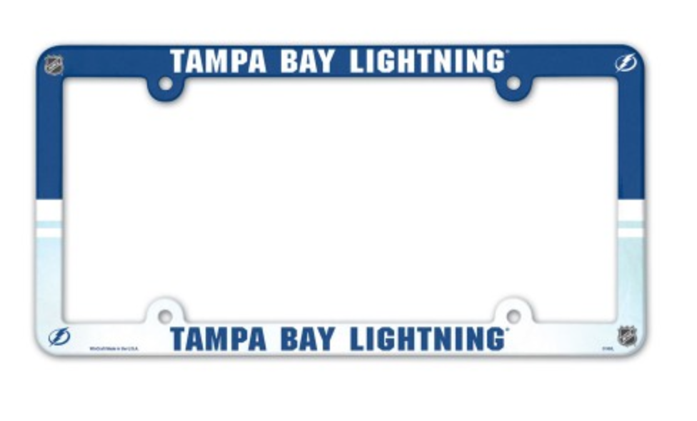 NHL Tampa Bay Lightning 6x12 inch Full Color Plastic License Plate ...