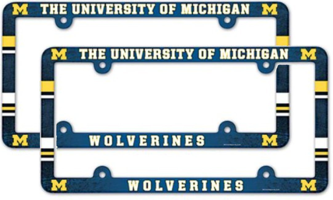 NCAA University of Michigan Wolverines 2 Pack Full Color License ...
