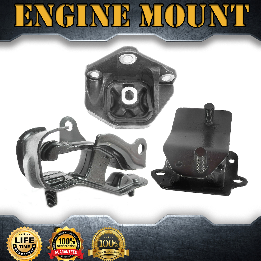 3X Engine Motor& Auto Trans Mount Set Kit For 2004-2006