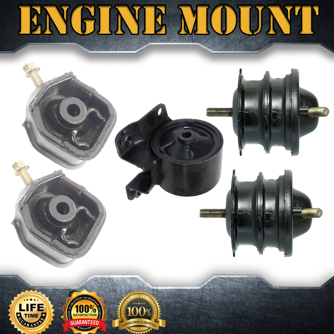 5X Engine Motor& Trans. Mount Set Kit For 1997-1998 ACURA
