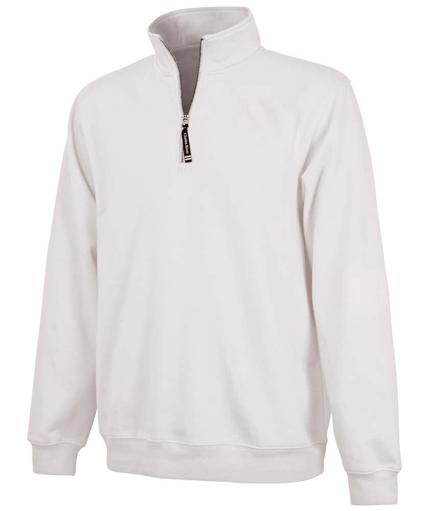 Quarter Zip White Sweatshirt cYru1h6