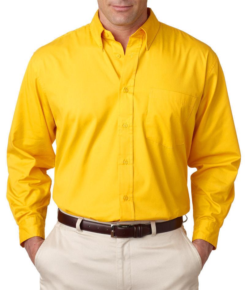 Ultraclub Whisper Twill Shirt Solid Button Down Shirt Men