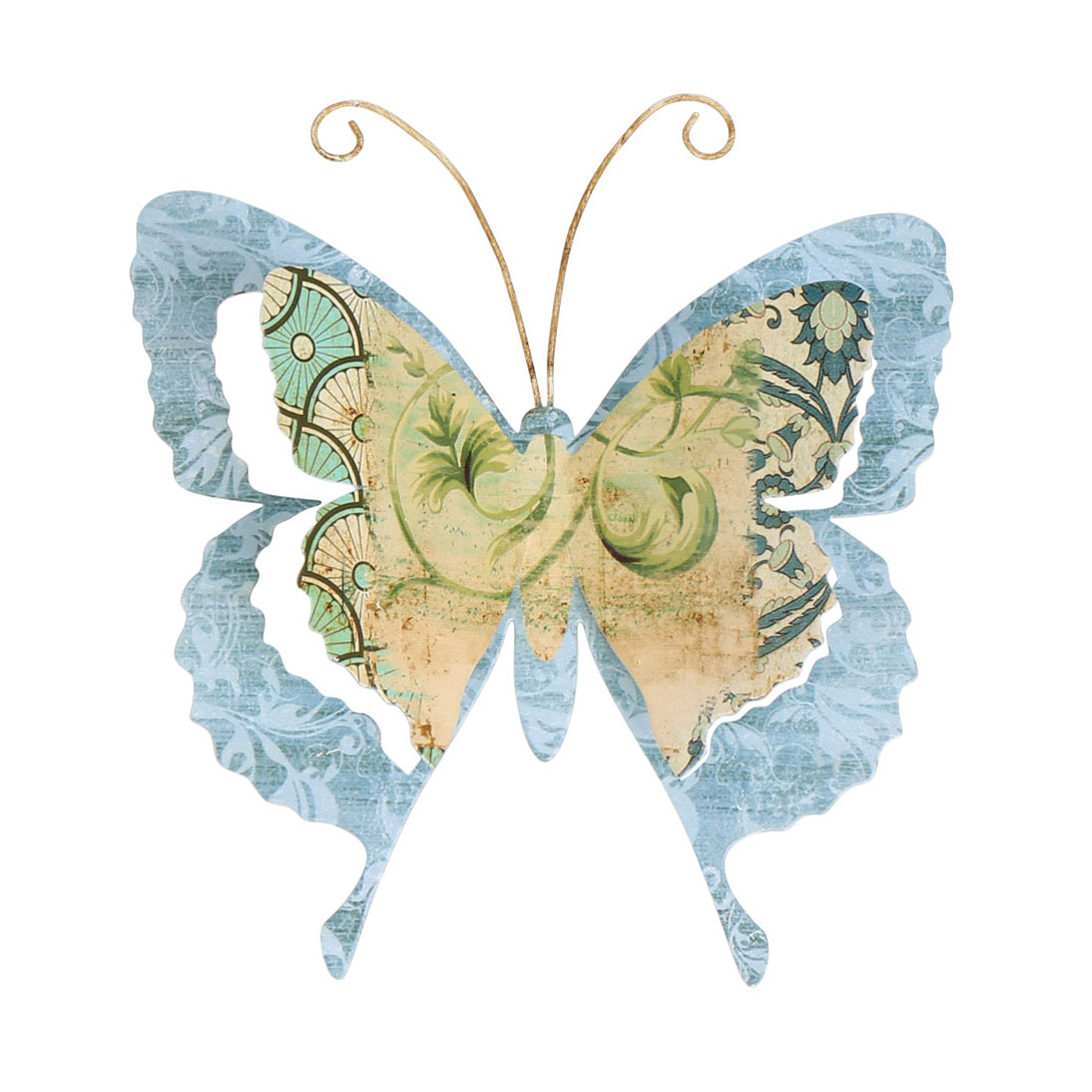 Old Fashioned Wall Decor Butterflies Metal Crest - The Wall Art ...