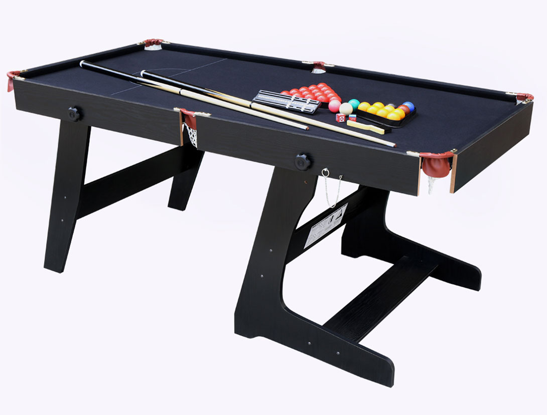 Folding professional snooker table pool billiard set with ball cue accessories ebay - Billiard table accessories ...