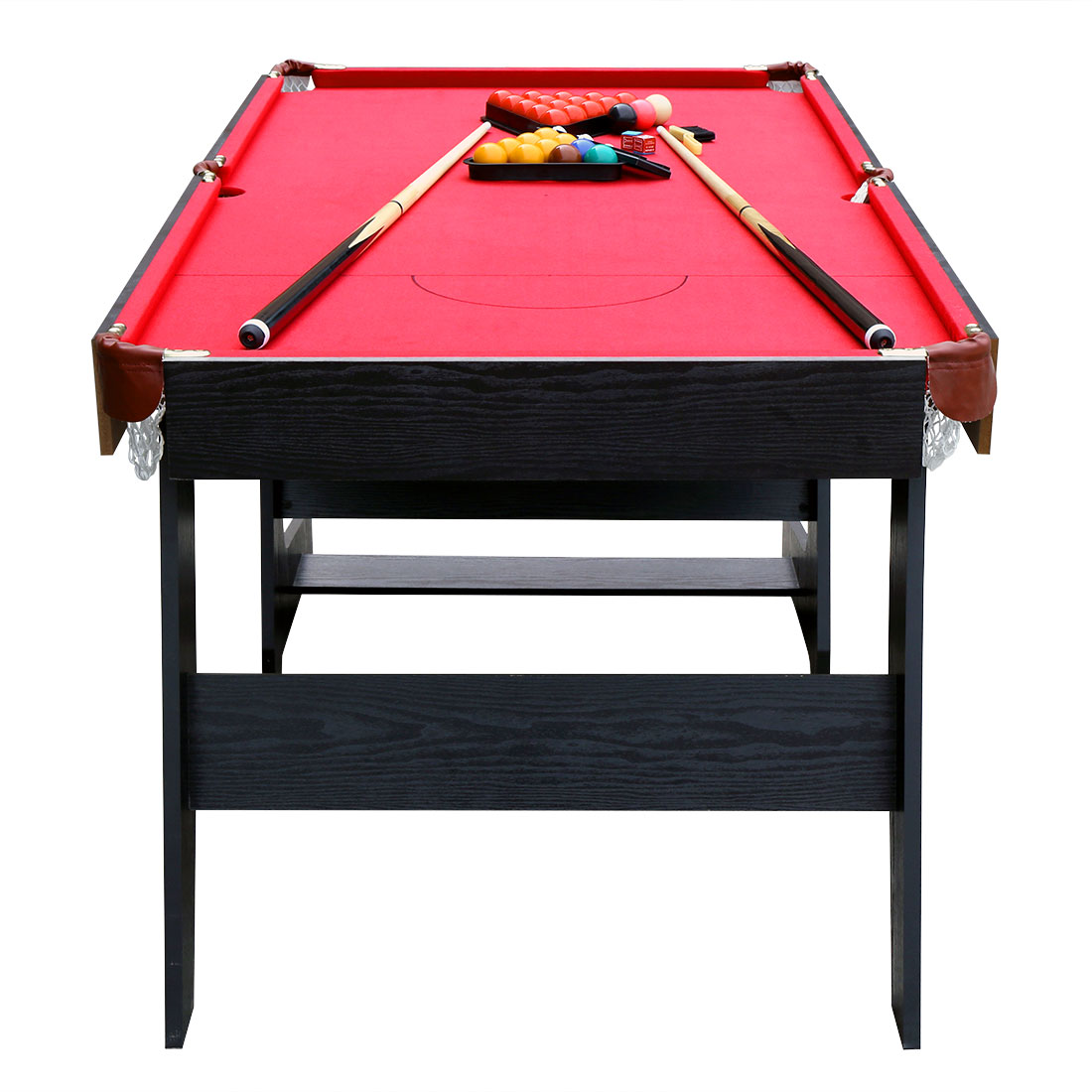 folding professional snooker table pool billiard set with