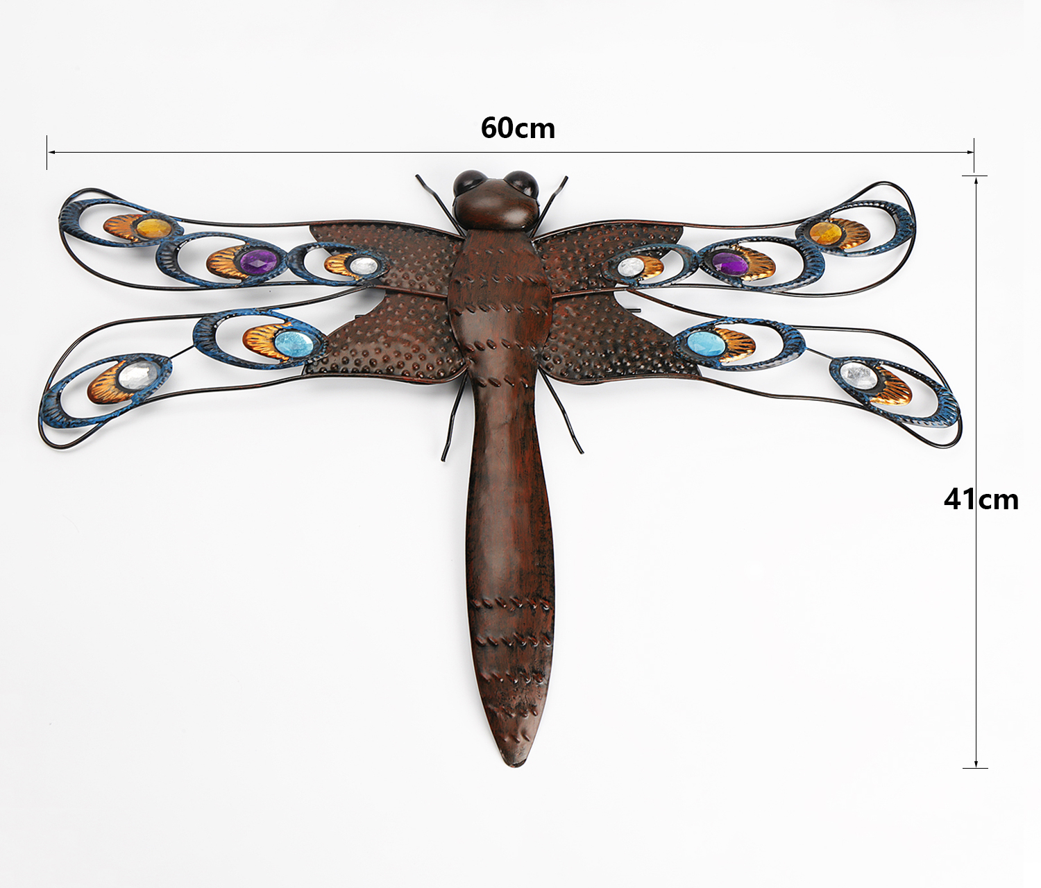 Giant Metal Dragonfly Garden Decorative Wall Art With