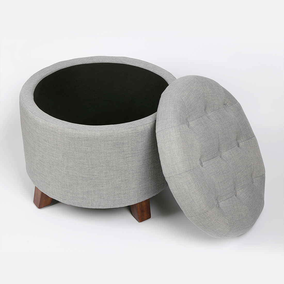 Soft-Round-Footstool-Storage-Ottoman-Stool-with-Button- & Soft Round Footstool Storage Ottoman Stool with Button Tufted Top ... islam-shia.org