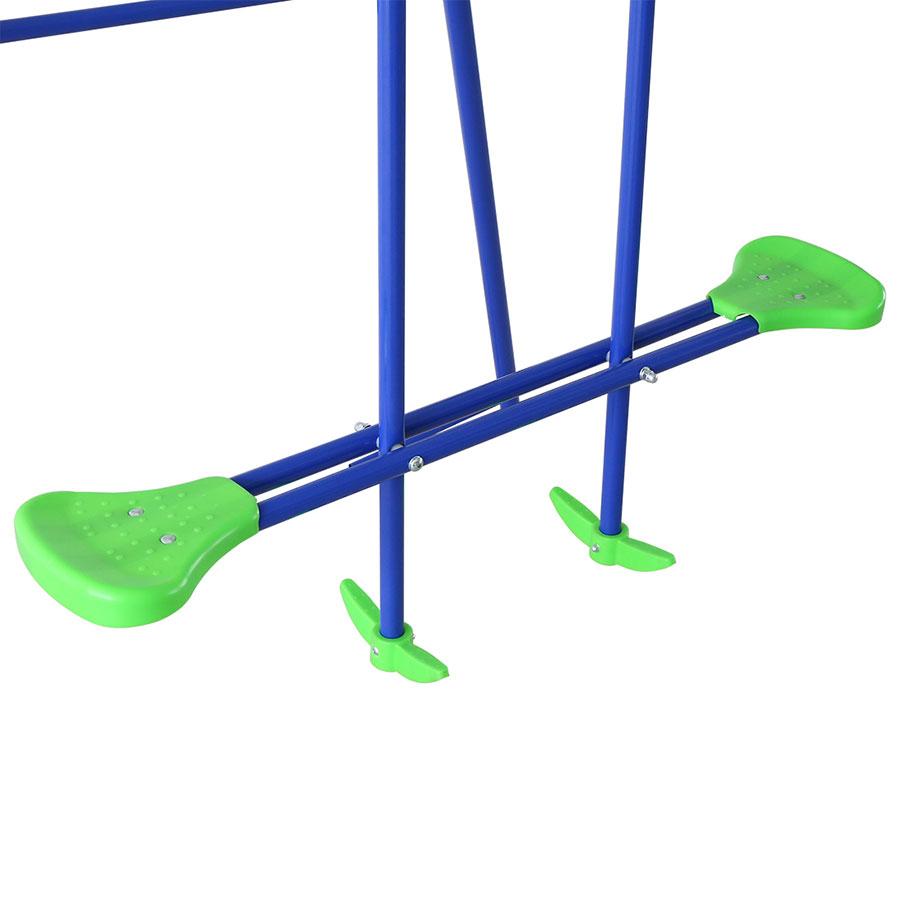 Altalena del bambini da giardino esterno all 39 aperto con due sedili un dondolo ebay - Dondolo da giardino bambini ...