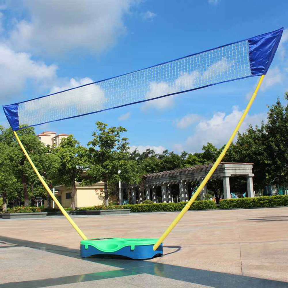portable badminton set volleyball net frame battledore box
