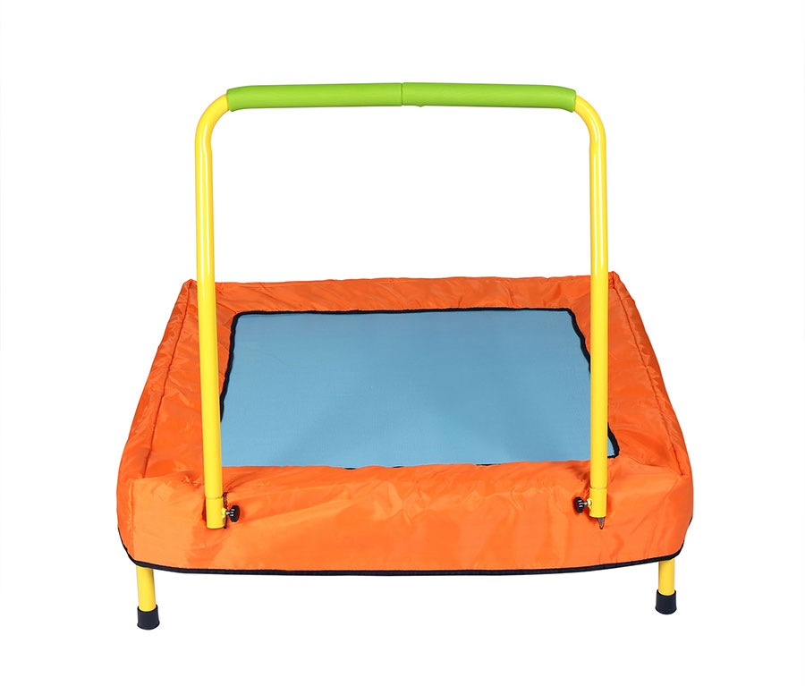 Portable Handrails Outdoors : Junior trampoline portable folding with handrail kids