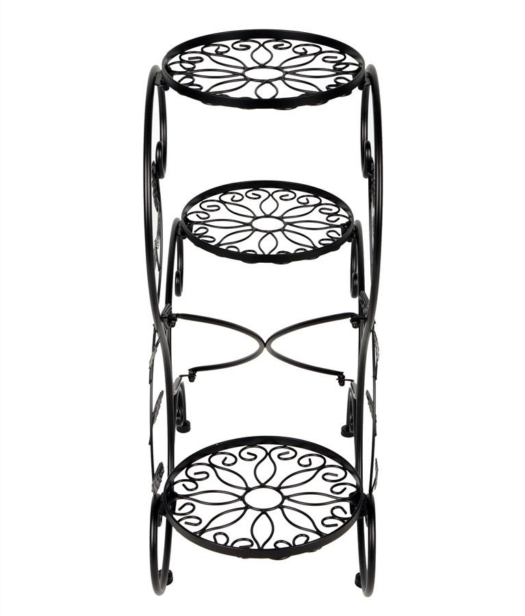 Portavaso fioriera scaletta scala 3 vasi metallo fiori for Fioriera a scala