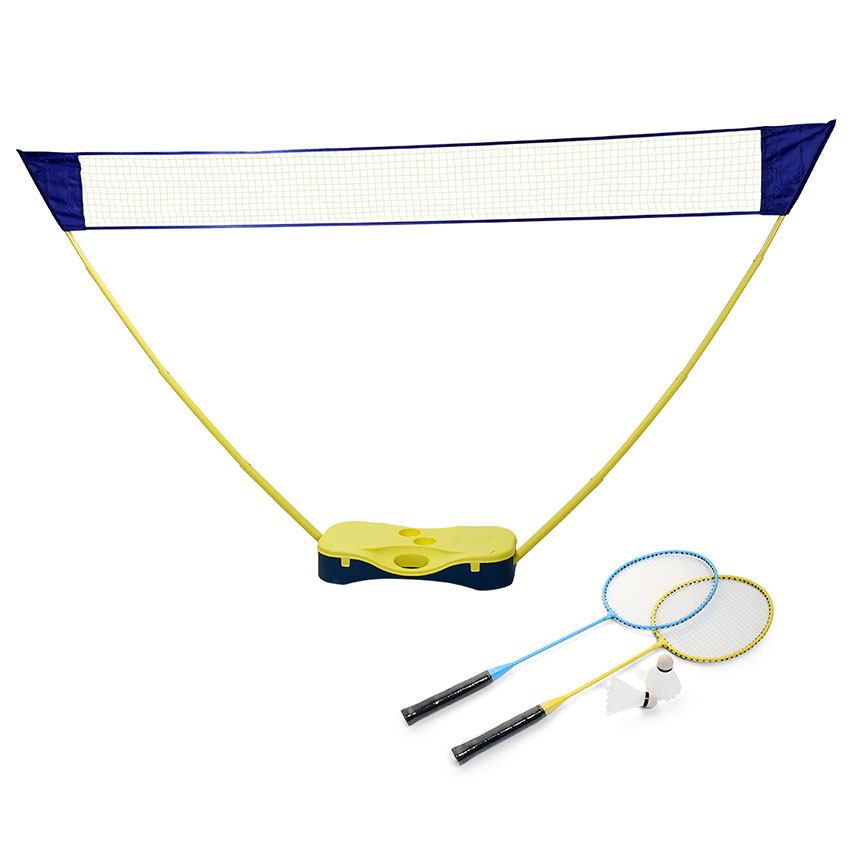 Outdoor Portable Badminton Set with Standing Box Volleyball Net ...