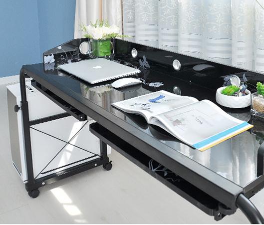 heim rollen verstellbar computer schreibtisch tisch ber bett laptop lager m bel ebay. Black Bedroom Furniture Sets. Home Design Ideas